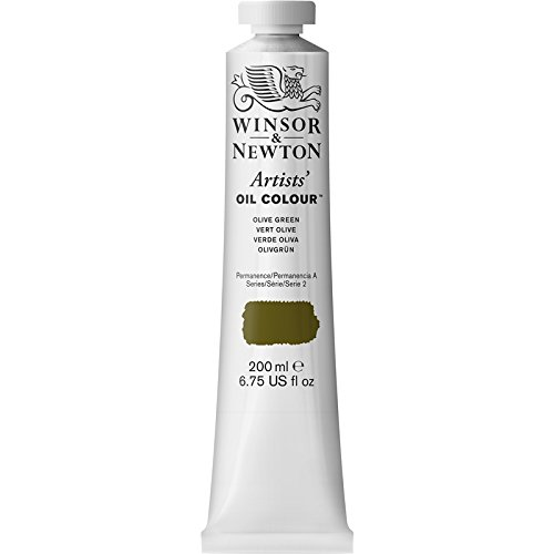 Winsor & Newton Artists' Oil Colour Paint, 200ml Tube, Olive Green (Best Olive Green Paint Colors)