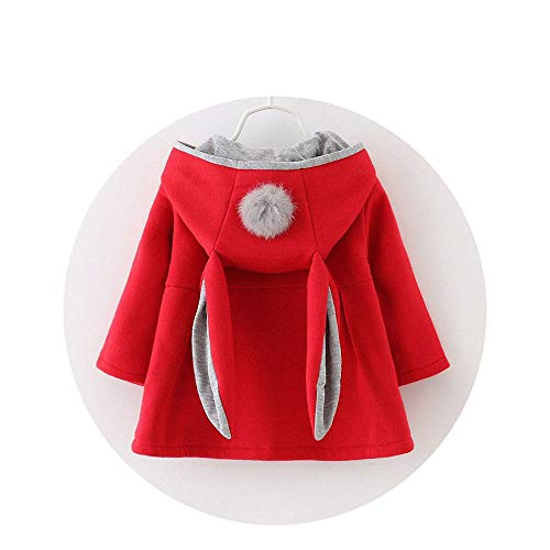 Infants Girls Cute Rabbit Hooded Jackets Kids Coats with Ball Holiday Party Clothes Costumes for $<!--$19.48-->