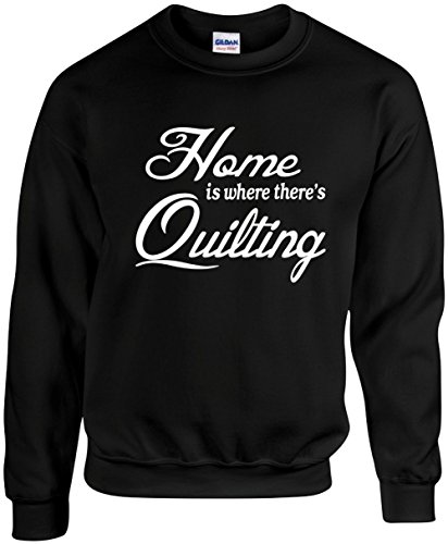 Unisex Witty Crewneck Size 3X (Home is where there's Quilting) Sweatshirt