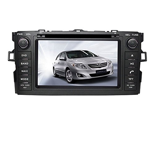 Stereo Hatchback System - TamYu 7 Inch Touchscreen Monitor Car GPS Navigation System forTOYOTA COROLLA HATCHBACK / TOYOTA AURIS Car Stereo DVD Player +Free Backup Rear View Camera+Free US Map