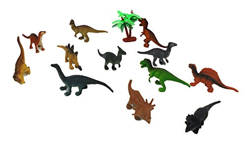 "12 Pcs Assorted Dinosaur Figure Cut 1.5"" - 3"" Action Figures Toy Playset (Animal Planet Raptor Dog Costume)"