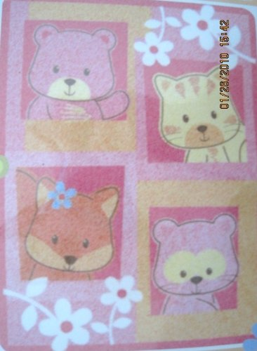 Dolly Cutie Cubs Luxury PLush Blanket Oranges, Pinks, Blues & Yellows