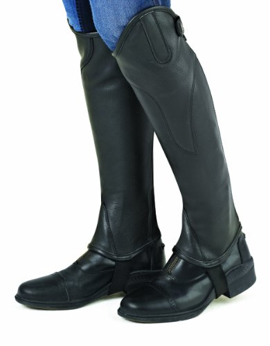 Ovation Women's Turin Leather Half Chaps Black Small US