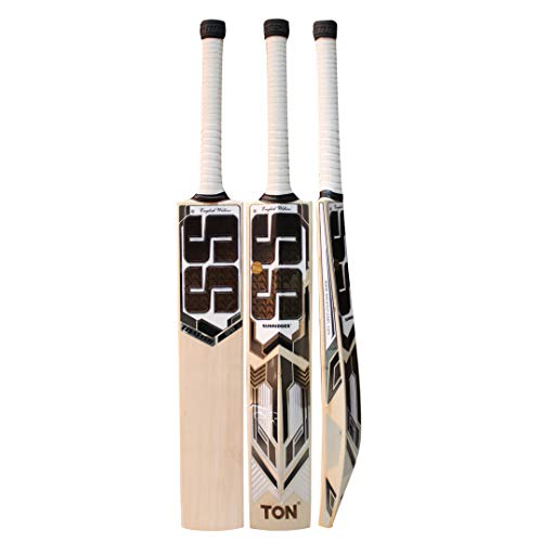 SS English Willow Cricket Bat MASTER 99 GRADE 7 'Size: Short Handle,Leather Ball