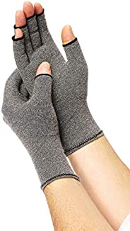 Medline B07R1N8RLZ - ORT19800L Compression Gloves for Arthritis, Fingerless Gloves for Relief from Arthritis,