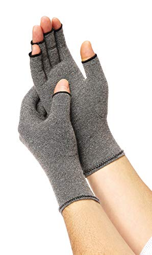 Medline Compression Gloves for Arthritis, Fingerless Gloves for Relief from Arthritis, Carpal Tunnel & Tendonitis, Gloves for Women or Men, Size Small (1 Pair)