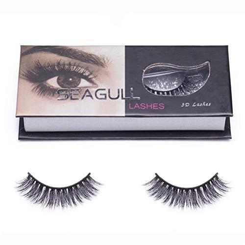 Seagull False Eyelashes Mink Eyelashes-3D Fluffy Fake Lashes For Makeup - Reusable Mink Lashes With Premium Siberian Mink Fur - Easy To Wear (3D-02)
