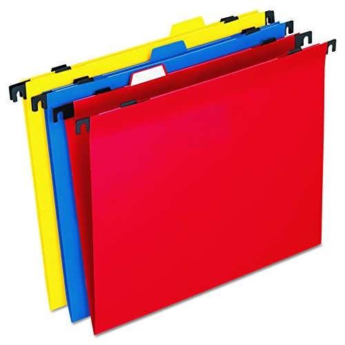Two-in-One Colored Poly Folders with Built-In Tabs, Letter, Assorted