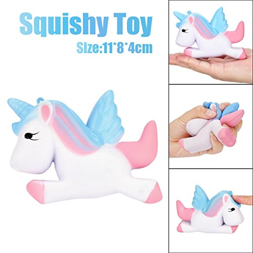 Cute Unicorn Slow Rising Relaxed Squeeze Toy,Aritone Exquisite Fun Cute Unicorn Squishy Simulation Toy (Small)