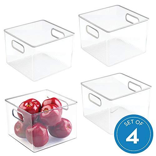 InterDesign Plastic Fridge and Pantry Storage Bins, Organizer Container for Kitchen, Bathroom, Office, Craft Room, BPA-Free, 8