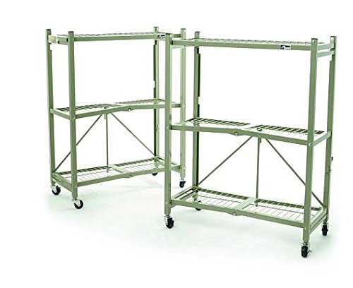 Origami Heavy Duty Foldable 3 Tier Rack, Green by Origami