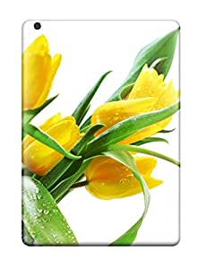 Hard Plastic Ipad Air Case Back Cover,hot Yellow Rose Case At Perfect Diy Sending Screen Protector in Free