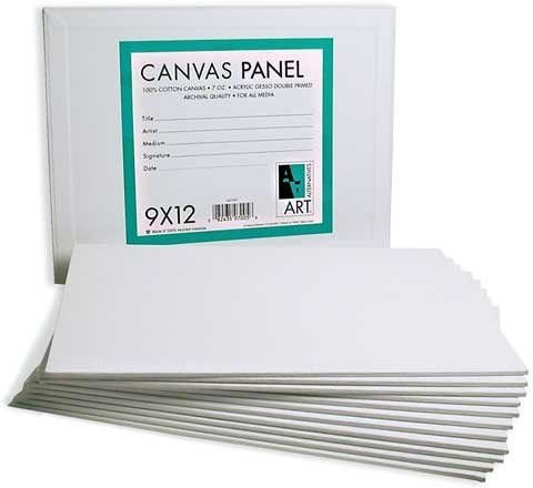 Nicole SbaCNV4002-CL 8 x 10 in. Pre-primed Canvas Panels, Boards - Lot of 6 by nicole
