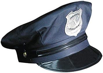 Marco Porta Gorra de Policía Ajustable Policía Sombrero: Amazon ...
