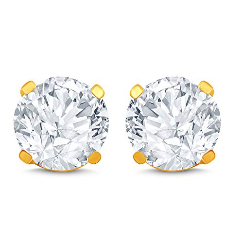 14k Yellow Gold Diamond Stud Earring (1/4 cttw, J-K Color, I2I3 Clarity) (Best Diamond Color And Clarity)