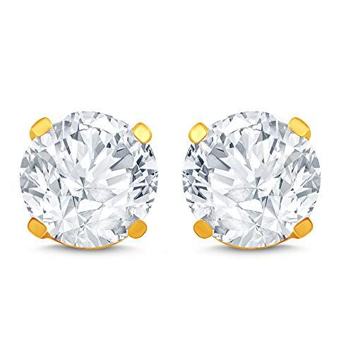 14k Yellow Gold Diamond Stud Earring (1/4 cttw, J-K Color, I2I3 Clarity)