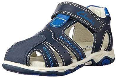 Clarks Boys' Ollie Fashion Sandals, Navy/Blue, 33 EU (1 AU)