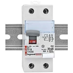 Interruptor diferencial, 25A, 2 polos, 0,03, Legrand Lexic