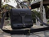 Trip Machine Company Leather Vintage Messenger Bag/Satchel - Black