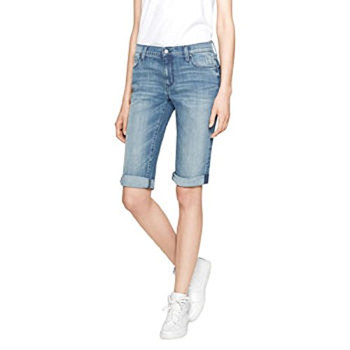 DKNY Jeans womens' Bermuda Short, light Blue, SIze 06 (Dkny Mid Rise Jeans)