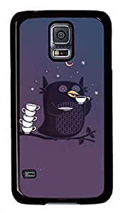Owl PC Black Hard Case Cover Skin For Samsung Galaxy S5 I9600