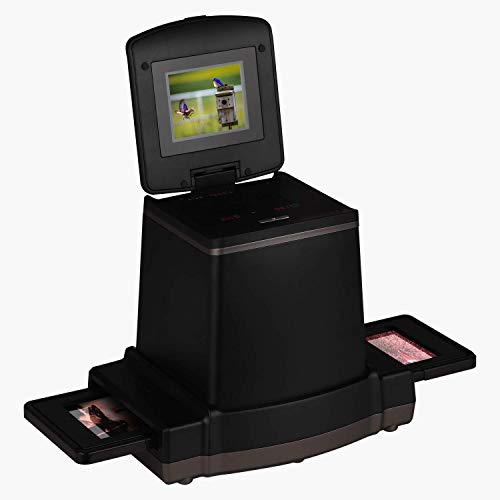 120 Stand Alone Film & Slide Scanner, Converts 6×9/6×8/6×7/6×6 and 6×4.5cm 120 Films/Color Reversal/Negative/B&W Negatives to Digital JPG Photos, 2.4 LCD Screen, Compatible with Mac/PC