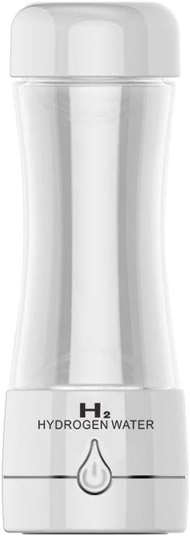 JCMKJ Generador de botella de agua alcalina de hidrógeno con batería recargable, 3 minutos de agua saludable y purificador SPE PEM tecnología de membrana iónica para bebidas diarias, endérgicos, deportivas, etc., Blanco:
