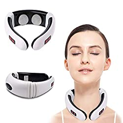 Neck massager Electric Pulse Multifunctional Massage to Relief Pain Portable Design Pillow Suitable for Car Office Home Cervical SLZT