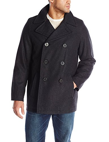 Tommy Hilfiger Men's Big-Tall Classic Peacoat, Charcoal, 2X-Large/Tall by Tommy Hilfiger