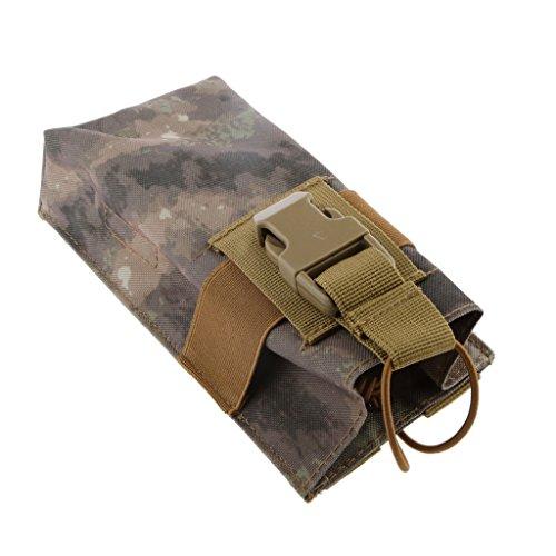 MOLLE Outdoor Camping Beutel für Sprechanlage Handy Geldbeutel-Beutel Halter mit Haken - ATS, 9cm*8cm*20cm