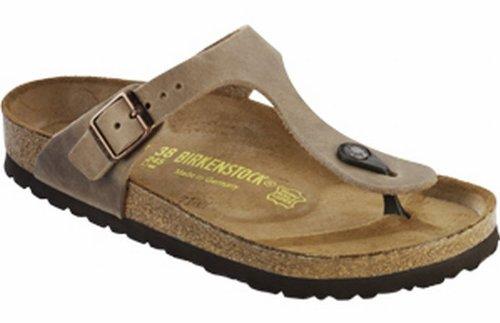 Birkenstock Women's GIzeh Thong Sandal, Tobacco Brown Leather, 40 M EU/9-9.5 B(M) US