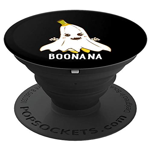 Halloween Food Banana Ghost (Boonana Funny Spooky Banana Ghost Food Halloween Costume PopSockets Grip and Stand for Phones and)