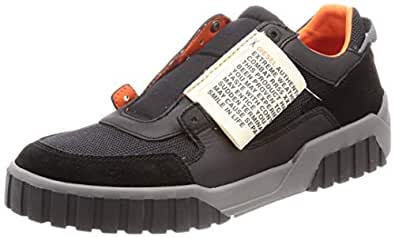 Diesel Men's S=Short Sleeve, L=Sleeveless}-LE RUA ON-Sneakers, Black 7 M US