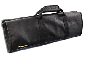 Messermeister 12-Pocket Knife Roll, Black