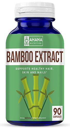 Ahana Nutrition Bamboo Extract – Supports Healthy Hair, Skin and Nails (900mg – 90 Capsules) Review