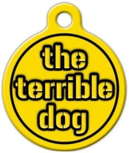 Custom Pet ID Tag for Dogs and Cats Steelers Terrible Dog Dog Tag Art