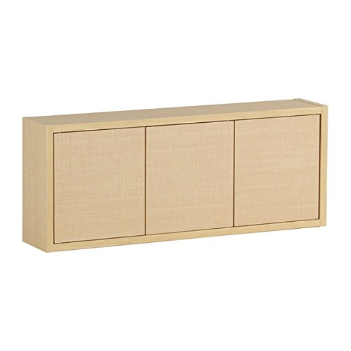arne ウォールシェルフ 木製 石膏ボード ウォールボックス 棚 奥行き14cm 耐荷重15kg Wall Box Seven DX E 単品M ベージュ B071JBY31L 長方形(扉付き薄型)Mサイズ|ナチュラル ナチュラル 長方形(扉付き薄型)Mサイズ