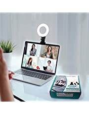 SELFILA Video Conference Lighting Kit 3200k-6500K Dimmable Led Ring Lights Clip on Laptop Monitor for Remote Working/Zoom Calls/Self Broadcasting/Live Streaming/YouTube Video/TikTok