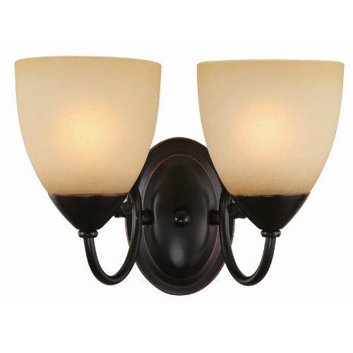 (Hardware House Berkshire Series 2 Light Oil Rubbed Bronze 12-1/4 Inch by 8-1/4 Inch Bath / Wall Lighting Fixture : 16-8212)