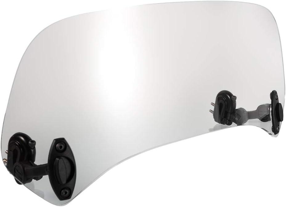 Claro Juego de Spoiler Universal para Motocicleta Perfil Aerodin/ámico Ajustable de Acr/ílico Deflector de Parabrisas con Abrazadera para Aprilia para Yamaha para Kawasaki