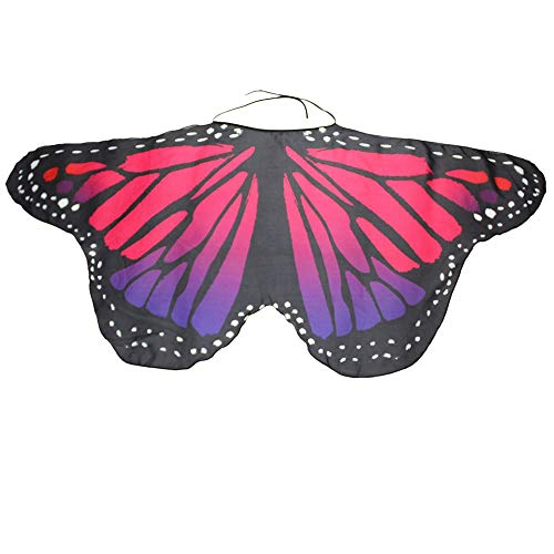 NUWFOR Halloween/Party Prop Soft Fabric Butterfly Wings Shawl Fairy Ladies Nymph Pixie Costume Accessory ?C-i?One Size? -