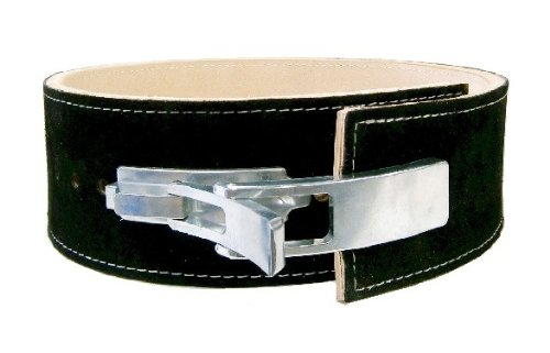 13mm Thick 4″ Suede Leather Lever Powerlifting Belt Review