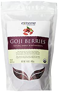 Extreme Health Organic, Wild Tibetan Goji Berries, 16-Ounce Bag (Pack of 2)