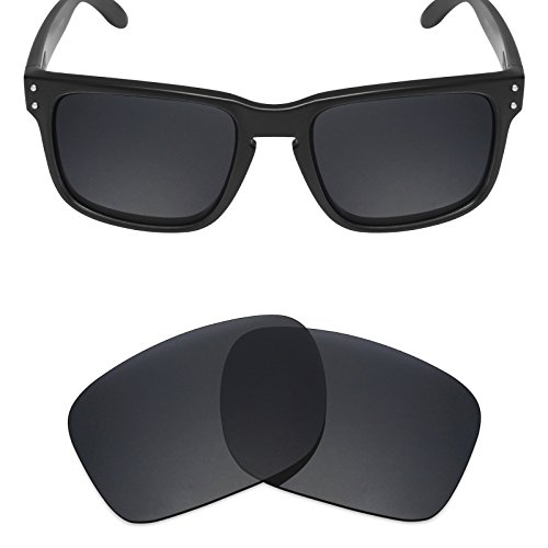 Gray Tint Lenses - Mryok Polarized Replacement Lenses for Oakley Holbrook - Stealth Black