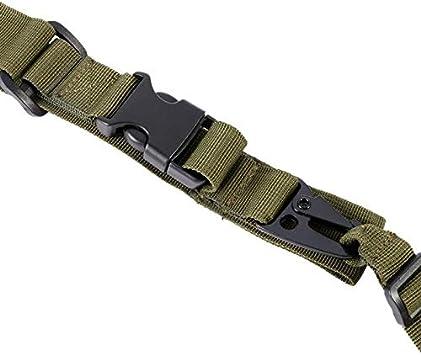 3-Punkt-Gewehrriemen Einstellbare Durable Tactical Bungee Sling Swivels Airsoft Jagd-Gewehr-B/ügel-New 2018 Farbe : Army Green XFC-QDAI