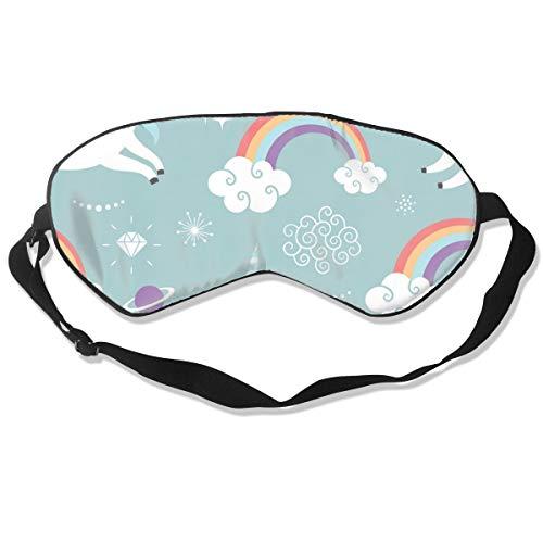 GRFER Cute Unicorns Best Sleep Mask Travel, Nap, Adjustable Belt Eye Mask for Men and Women