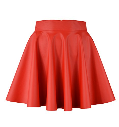 Roban Fashion - Jupe - Trapze - Femme Rot-mini