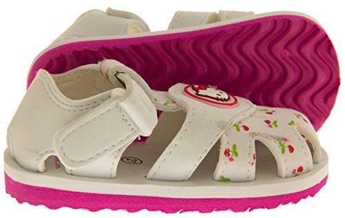 Hello Kitty Sangatta Niñas Correa Velcro Sandalias Punta Cerrada Sandalias Blanco