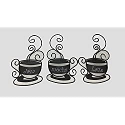 Set of 3 Metal Coffee Cups