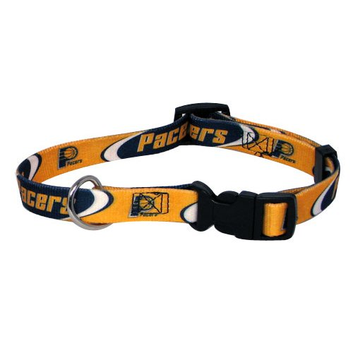 NBA Indiana Pacers Adjustable Pet Collar, Team Color, Medium